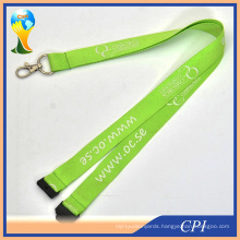Cheap Silk Screen Printing Bright Color Lanyards